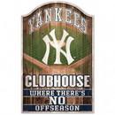 New York Yankees Sign 11x17 Wood Fan Cave Design