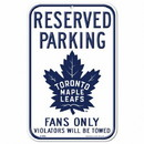 Toronto Maple Leafs Sign 11x17 Plastic Reserved Parking Style Special Order