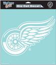 Detroit Red Wings Decal 8x8 Die Cut White