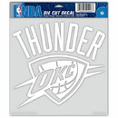 Oklahoma City Thunder Decal 8x8 Die Cut White