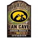 Iowa Hawkeyes Wood Sign - Fan Cave