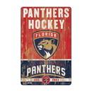 Florida Panthers Sign 11x17 Wood Slogan Design