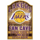 Los Angeles Lakers Sign 11x17 Wood Fan Cave Design