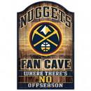 Denver Nuggets Sign 11x17 Wood Fan Cave Design Special Order