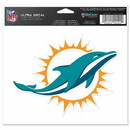 Miami Dolphins Decal 5x6 Ultra Color