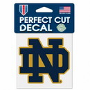 Notre Dame Fighting Irish Decal 4x4 Perfect Cut Color