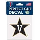 Vanderbilt Commodores Decal 4x4 Perfect Cut Color