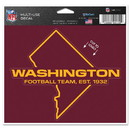 Washington Football Team Decal 5x6 Multi Use Color Cut to Logo