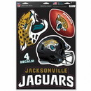 Jacksonville Jaguars Decal 11x17 Multi Use Cut to Logo 4 Piece Special Order