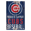 Chicago Cubs Sign 11x17 Wood Proud to Support Design