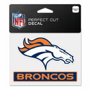 Denver Broncos Decal 4.5x5.75 Perfect Cut Color