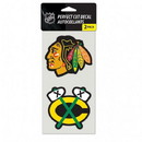 Chicago Blackhawks Set of 2 Die Cut Decals