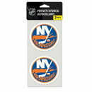 New York Islanders Decal 4x4 Perfect Cut Set of 2