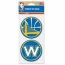 Golden State Warriors Decal 4x4 Die Cut Set of 2