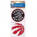 Toronto Raptors Decal 4x4 Perfect Cut Set of 2