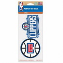 Los Angeles Clippers Decal 4x4 Perfect Cut Set of 2