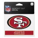 San Francisco 49ers Decal 4.5x5.75 Perfect Cut Color
