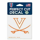 Virginia Cavaliers Decal 4x4 Perfect Cut Color Special Order