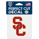 USC Trojans Decal 4x4 Perfect Cut Color