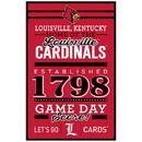 Louisville Cardinals Sign 11x17 Wood Established Design