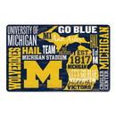 Michigan Wolverines Sign 11x17 Wood Established Design