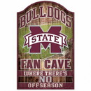 Mississippi State Bulldogs Sign 11x17 Wood Fan Cave Design Special Order