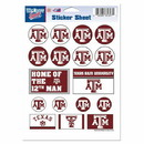 Texas A&M Aggies Decal 5x7 Vinyl Sticker Sheet Mini Decals