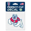 Fresno State BulldogsA?Decal 4x4 Perfect Cut Color