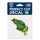 North Dakota State Bison Decal 4x4 Perfect Cut Color Special Order