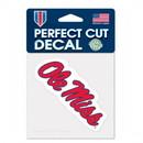 Mississippi Rebels Decal 4x4 Perfect Cut Color