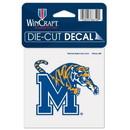 Memphis Tigers Decal 4x4 Perfect Cut Color Special Order