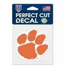 Clemson Tigers Decal 4x4 Perfect Cut Color