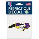 East Carolina Pirates Decal 4x4 Perfect Cut Color Special Order