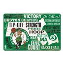 Boston Celtics Sign 11x17 Wood Established Design