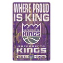 Sacramento Kings Sign 11x17 Wood Slogan Design