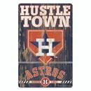Houston Astros Sign 11x17 Wood Slogan Design