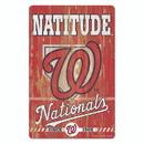 Washington Nationals Sign 11x17 Wood Slogan Design