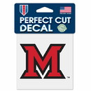 Miami RedHawks Decal 4x4 Perfect Cut Color Special Order
