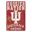 Indiana Hoosiers Sign 11x17 Wood Slogan Design