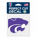 Kansas State Wildcats Decal 4x4 Perfect Cut Color