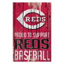 Cincinnati Reds Sign 11x17 Wood Proud to Support Design