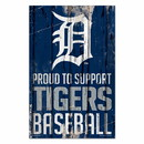 Detroit Tigers Sign 11x17 Wood Proud to Support Design