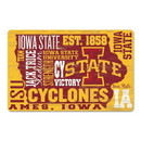 Iowa State Cyclones Sign 11x17 Wood Established Design
