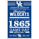 Kentucky Wildcats Sign 11x17 Wood Established Design