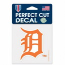 Detroit Tigers Decal 4x4 Perfect Cut Color