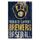 Milwaukee Brewers Sign 11x17 Wood Proud to Support Design