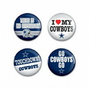 Dallas Cowboys Buttons 4 Pack