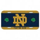 Notre Dame Fighting Irish License Plate Plastic Shamrocks Design