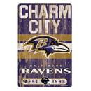 Baltimore Ravens Sign 11x17 Wood Slogan Design