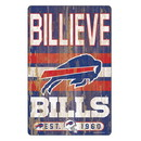 Buffalo Bills Sign 11x17 Wood Slogan Design
